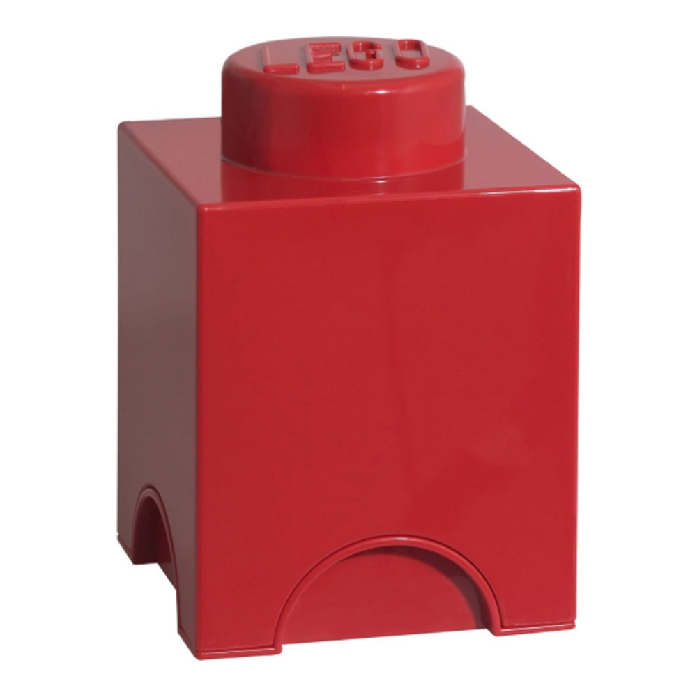 Lego Storage Brick 1 Small Red