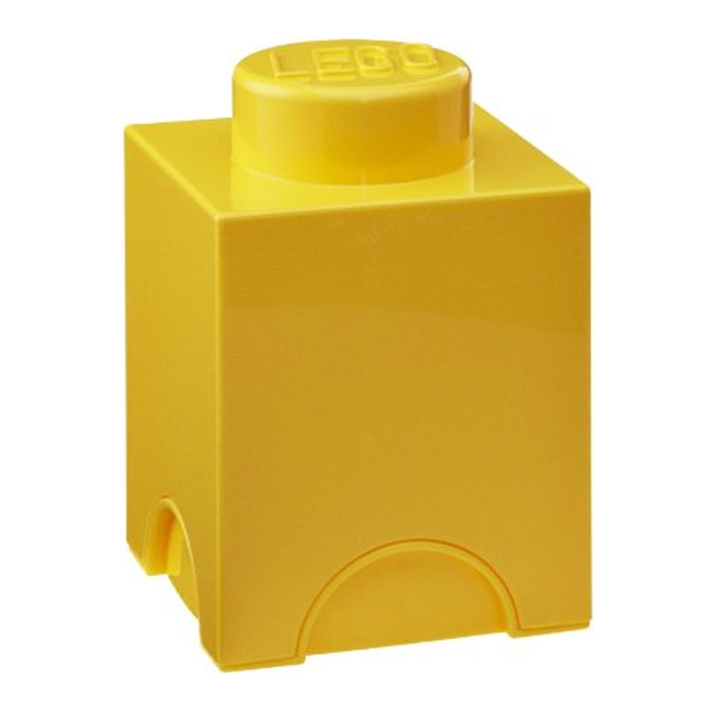 Lego Storage Brick 1 Small Yellow