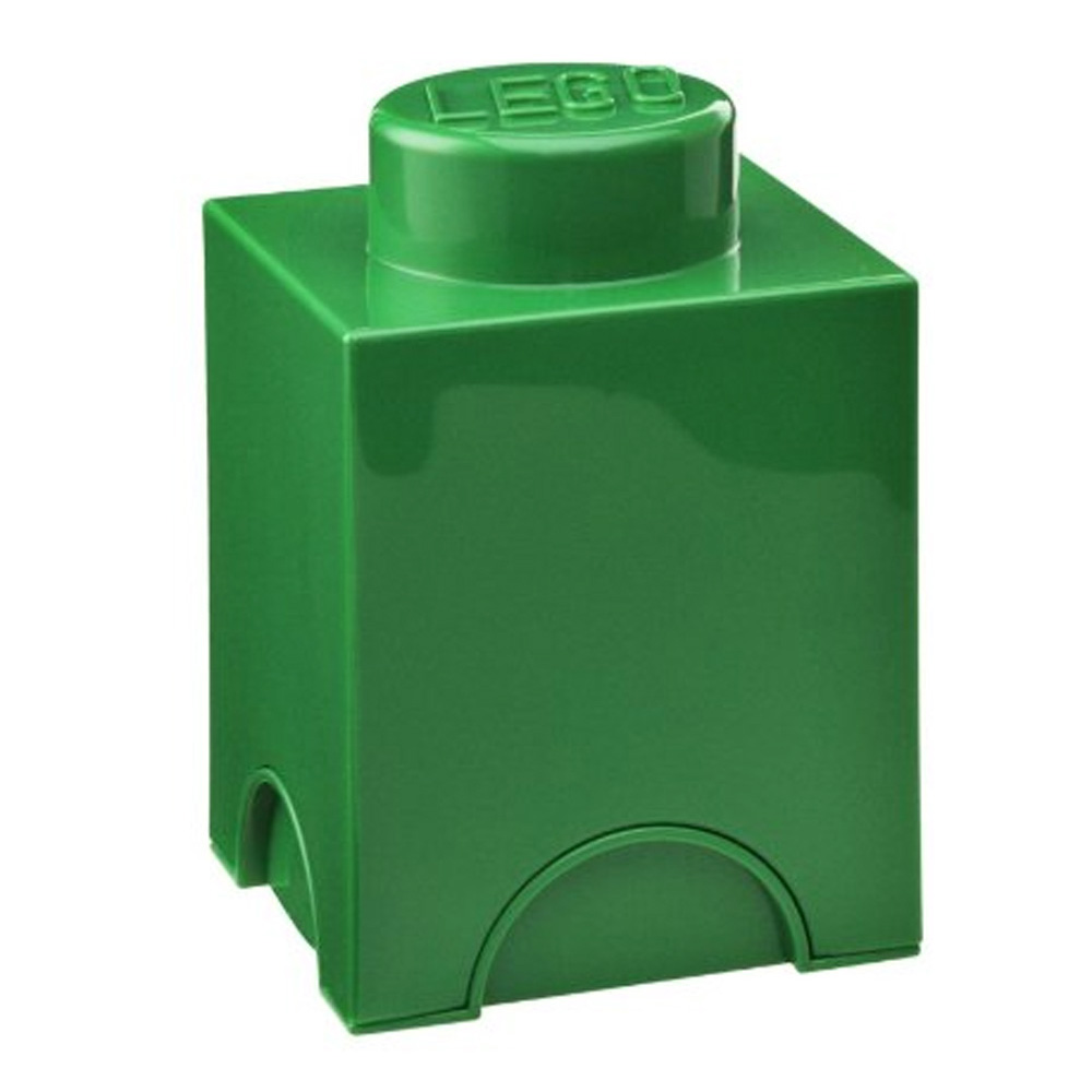 Lego Storage Brick 1 Small Dark Green