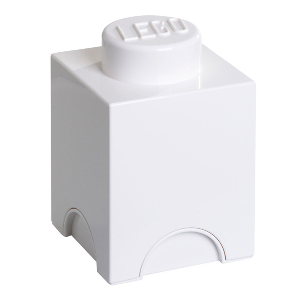 Lego Storage Brick 1 Small White