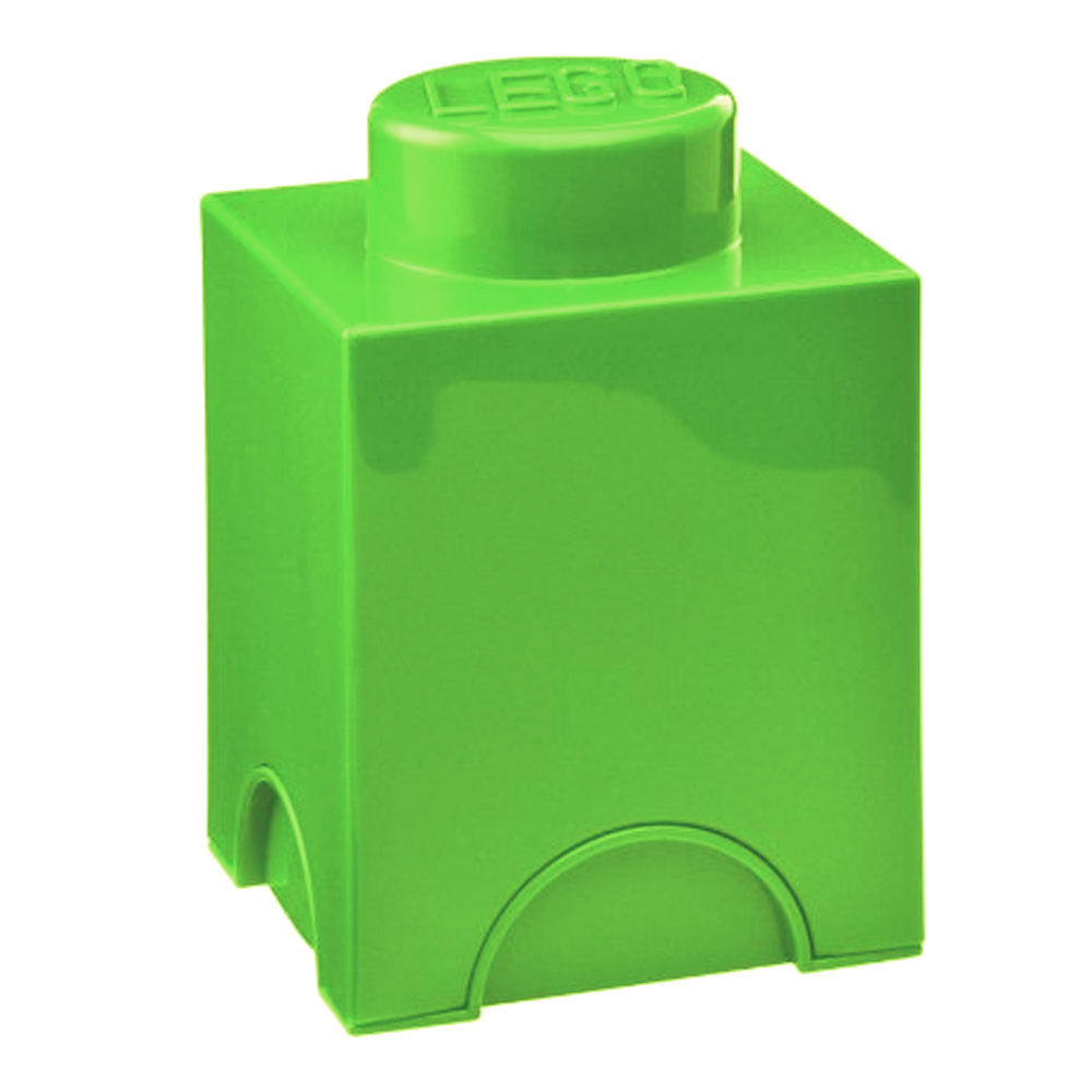 Lego Storage Brick 1 Small Lime Green