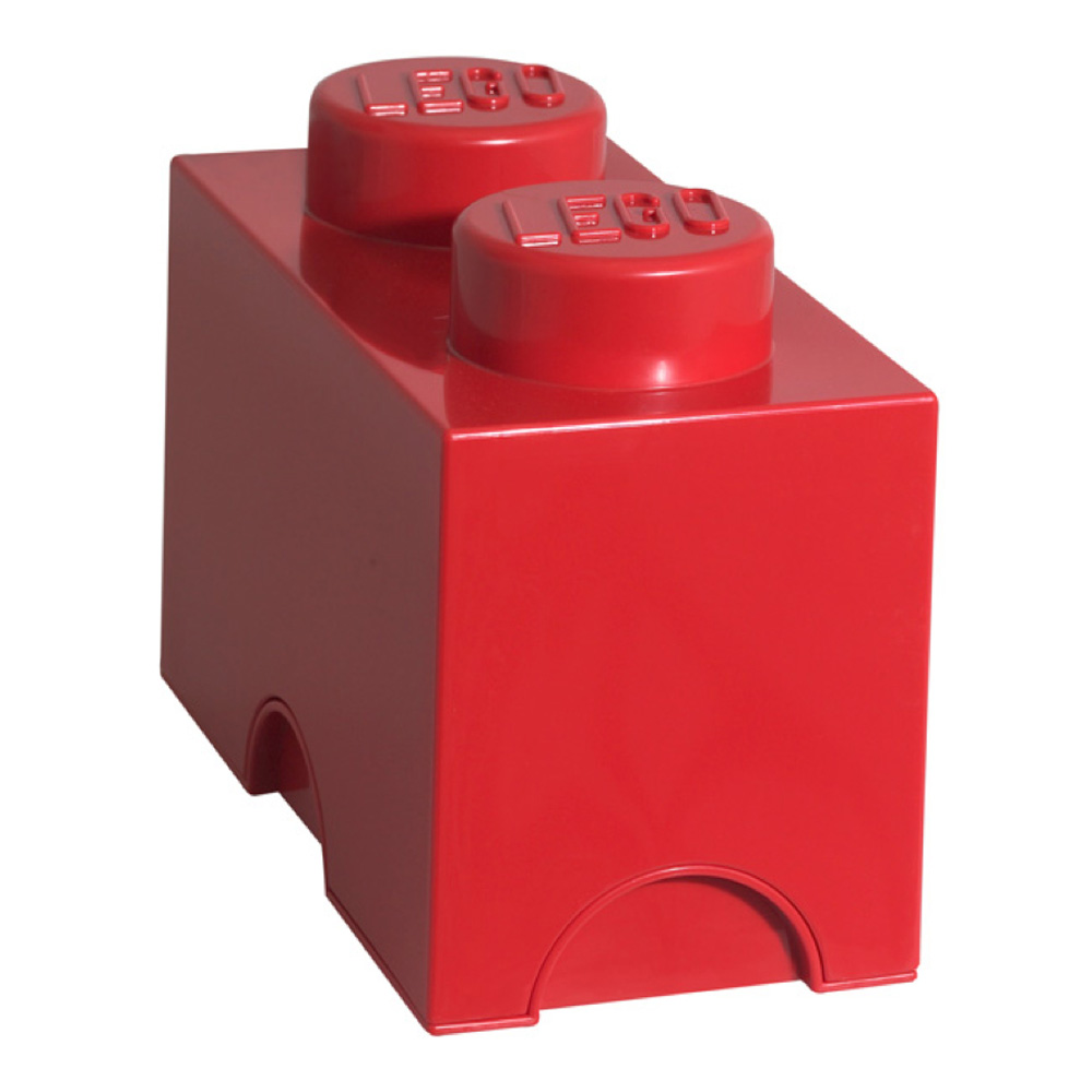 Lego Storage Brick 2 Medium Red