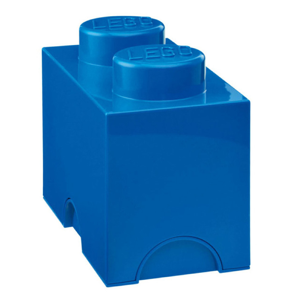 Lego Storage Brick 2 Medium Blue