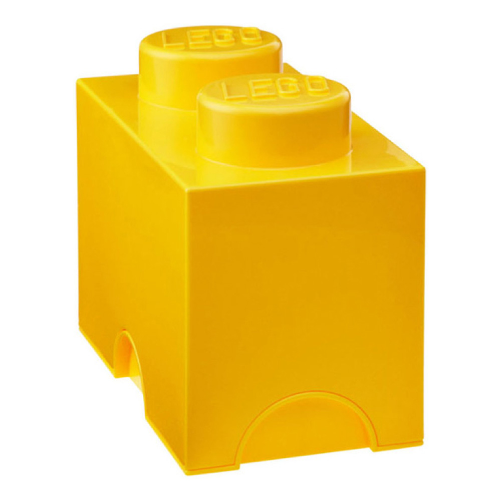 Lego Storage Brick 2 Medium Yellow