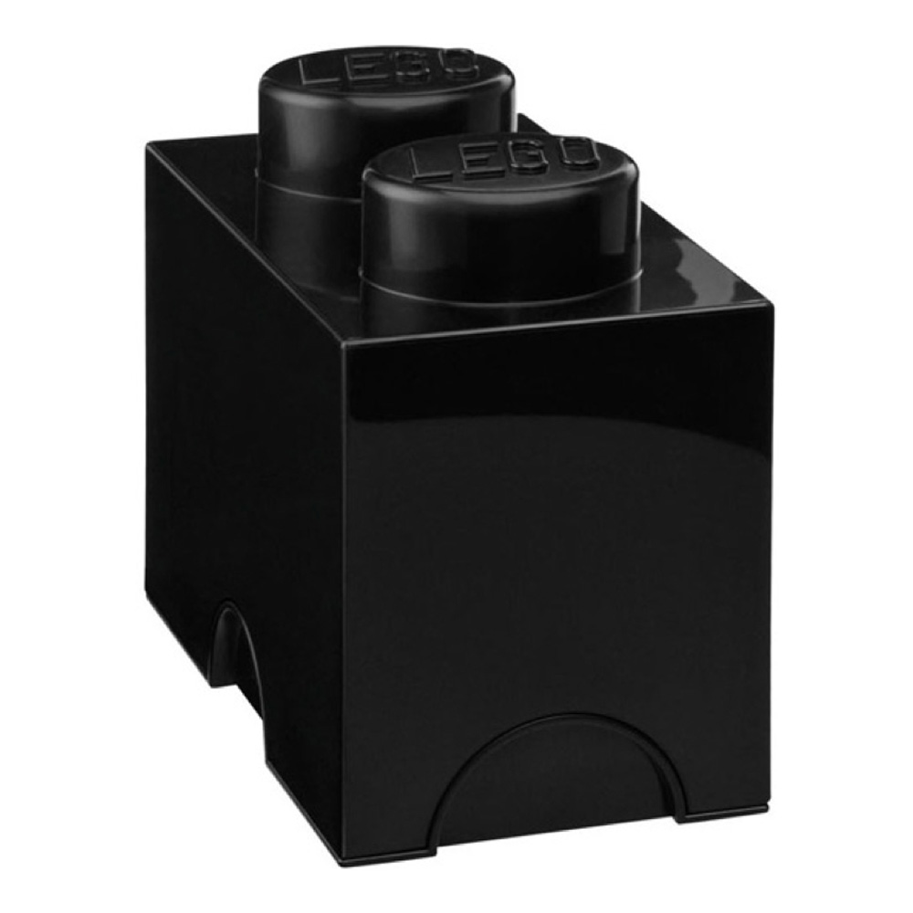 Lego Storage Brick 2 Medium Black