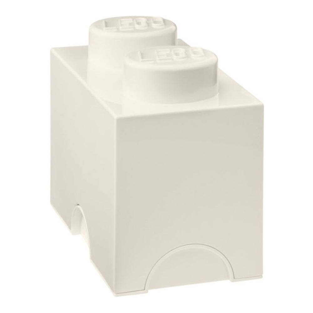 Lego Storage Brick 2 Medium White