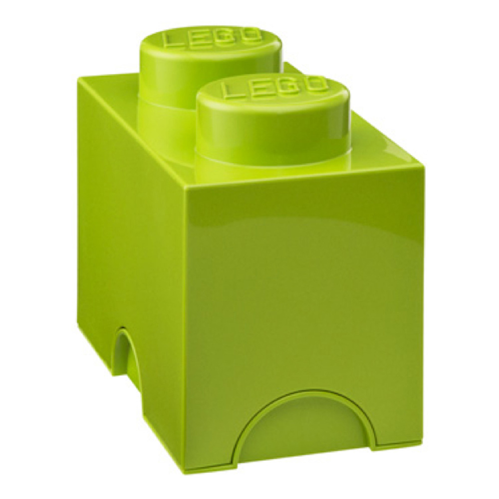 Lego Storage Brick 2 Medium Lime Green