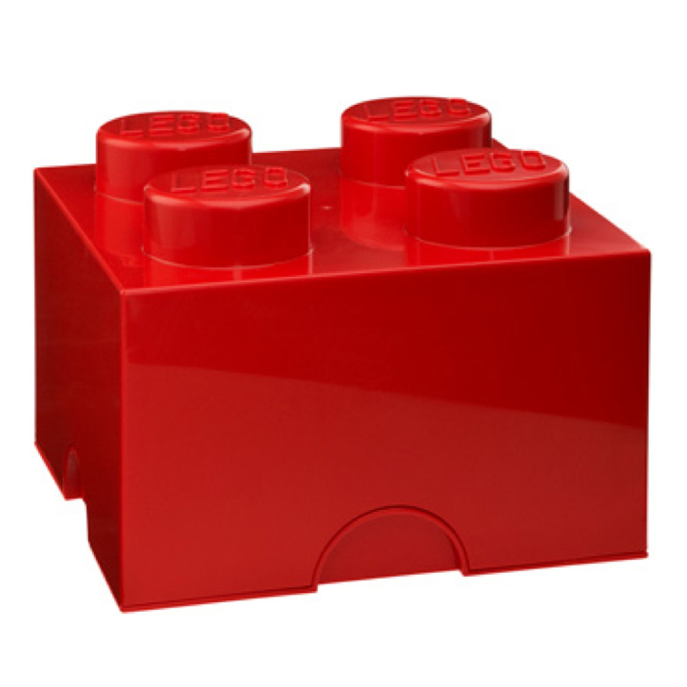 Lego Storage Brick 4 Medium Red