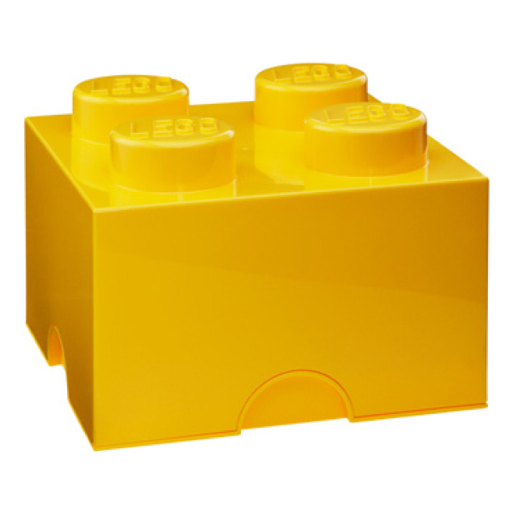 Lego Storage Brick 4 Medium Yellow