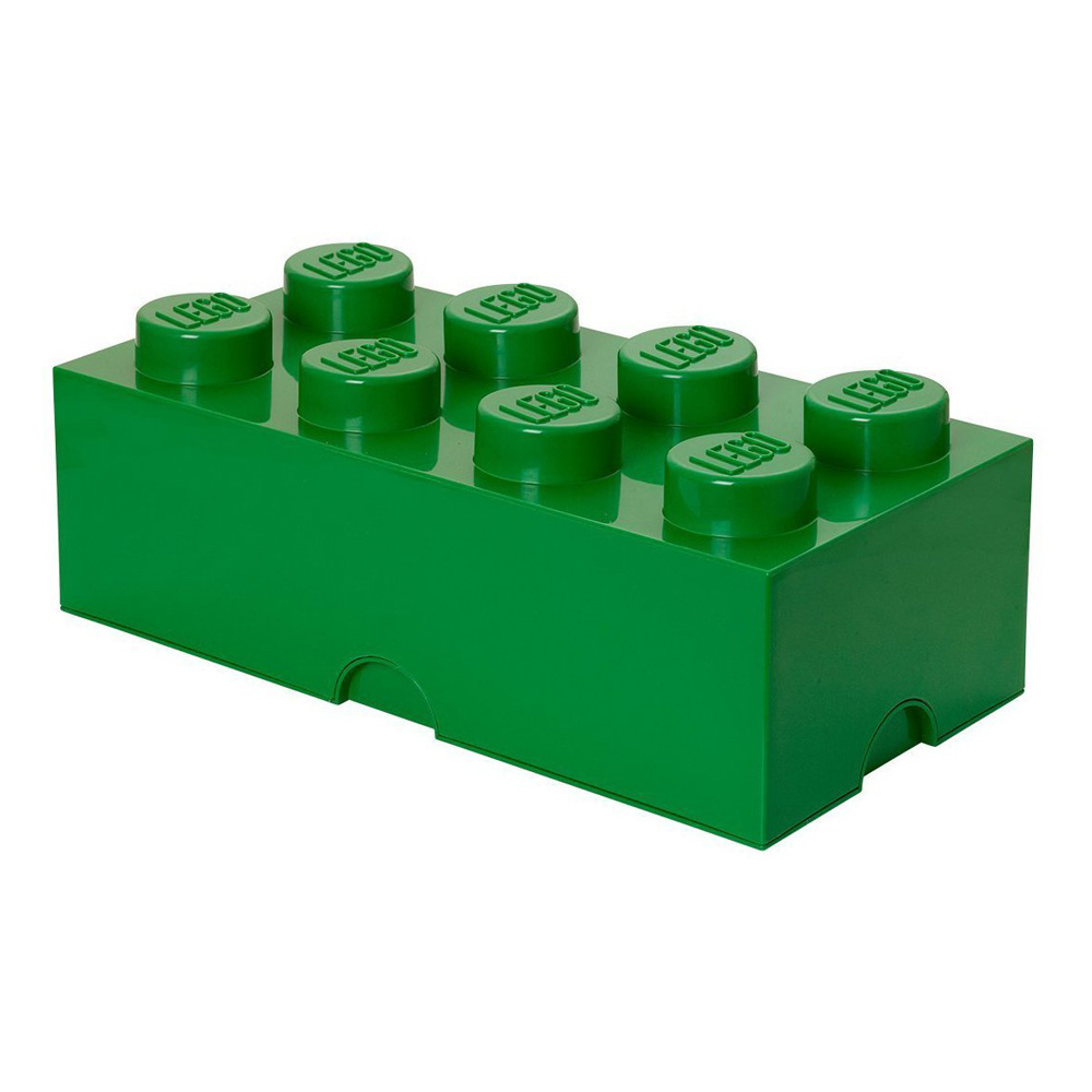 Lego Storage Brick 8 Large Dark Green