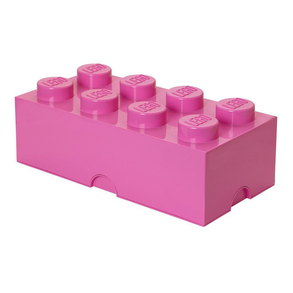 Lego Storage Brick 8 Large Bright Pink