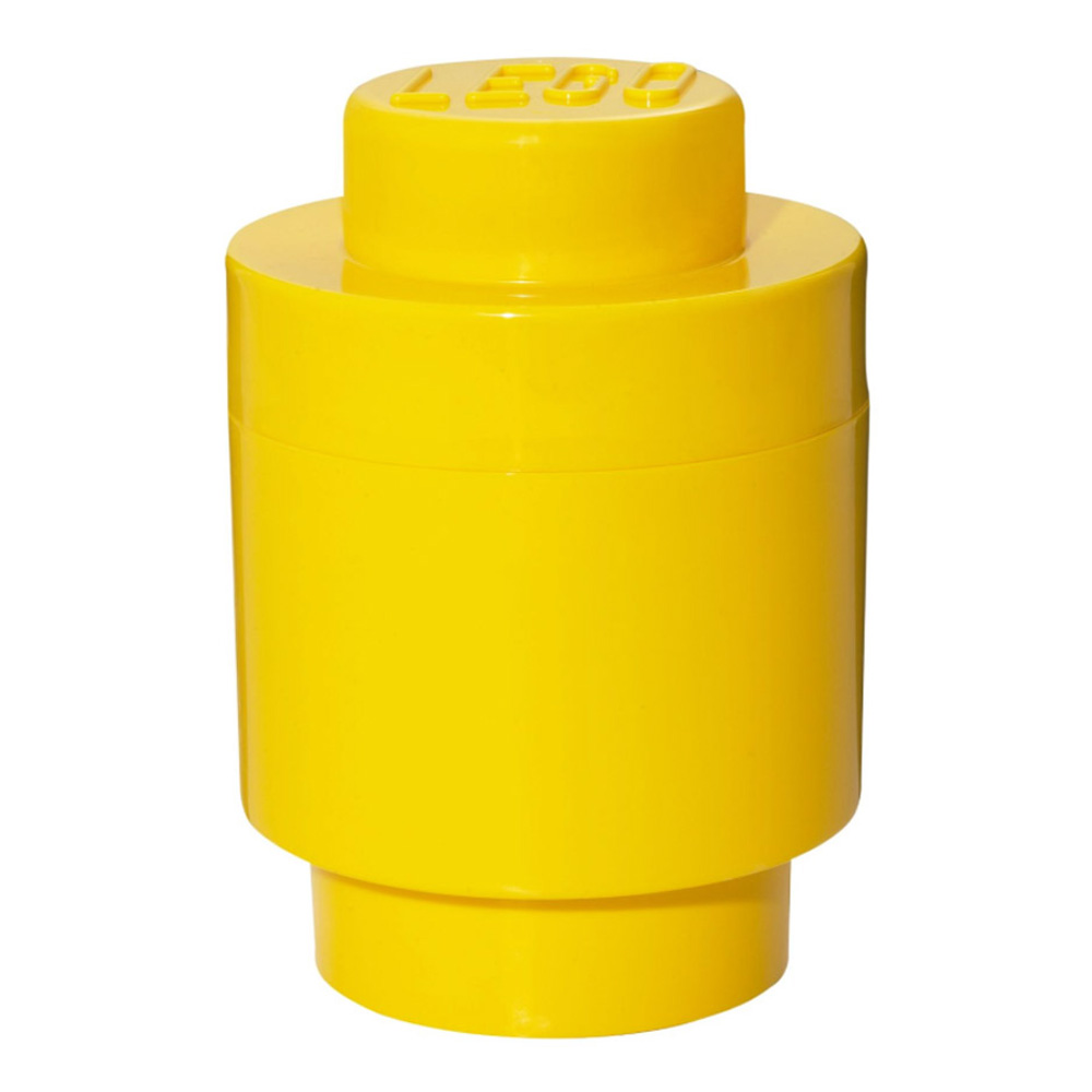 Lego Storage Brick 1 Small Round Yellow