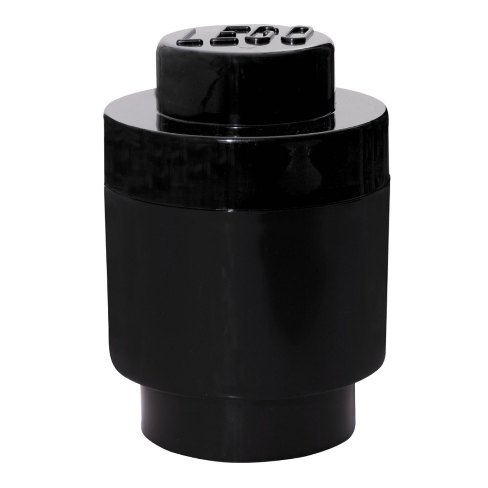 Lego Storage Brick 1 Small Round Black