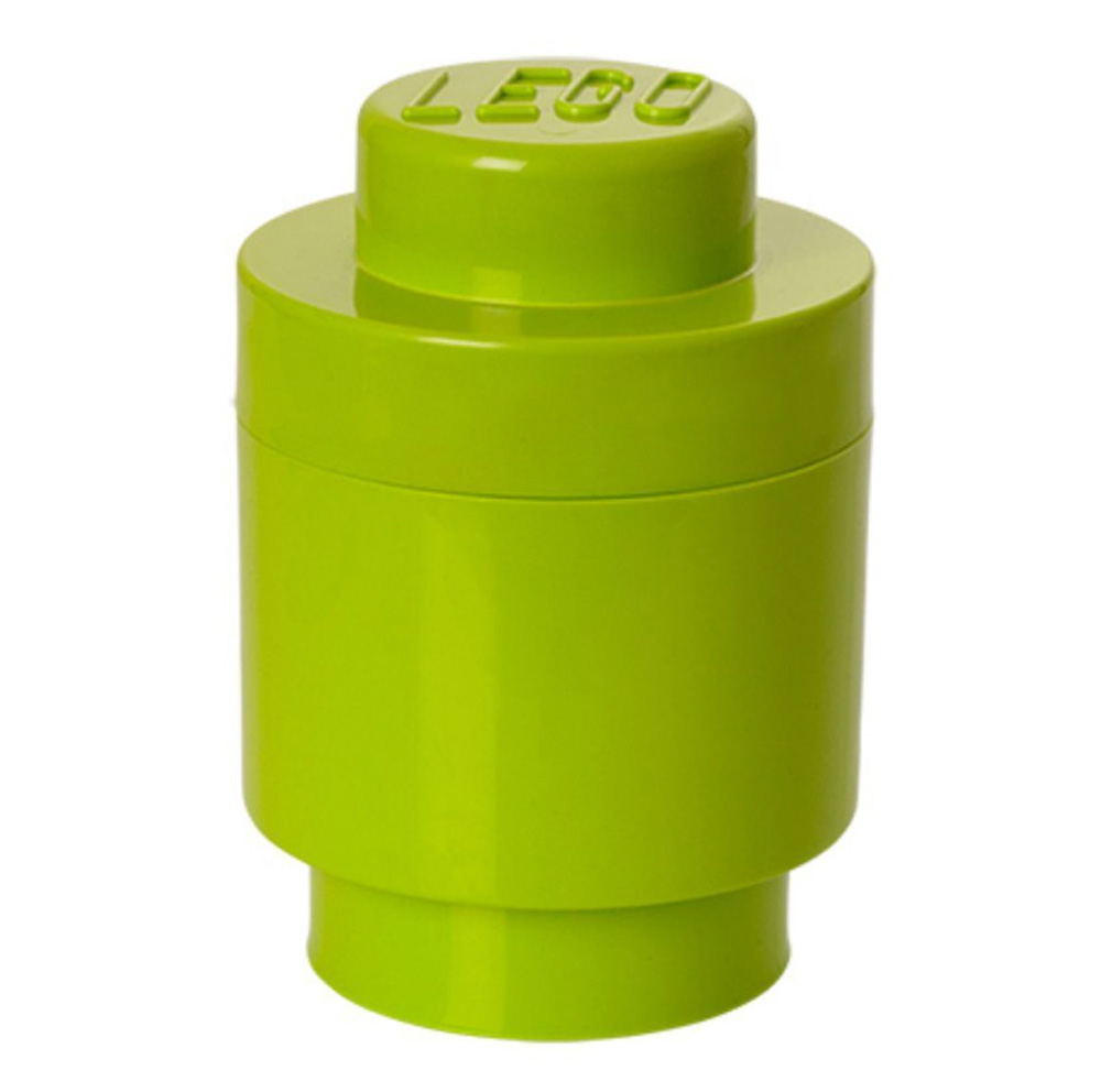Lego Storage Brick 1 Small Round Lime Green