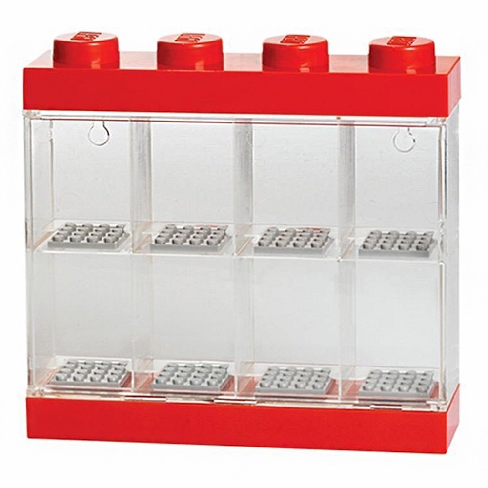 Lego Minifigure Display Case For 8 Red