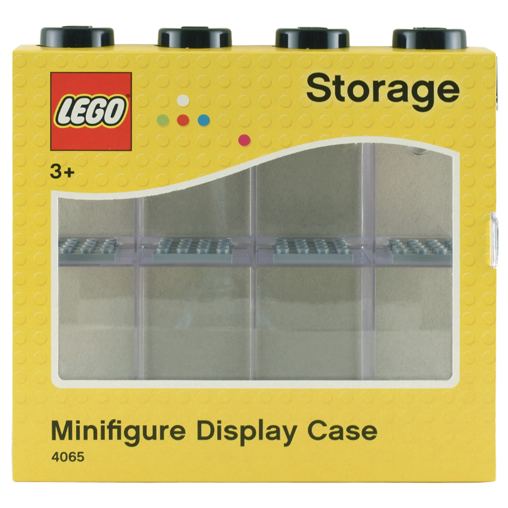 Lego Minifigure Display Case For 8 Black
