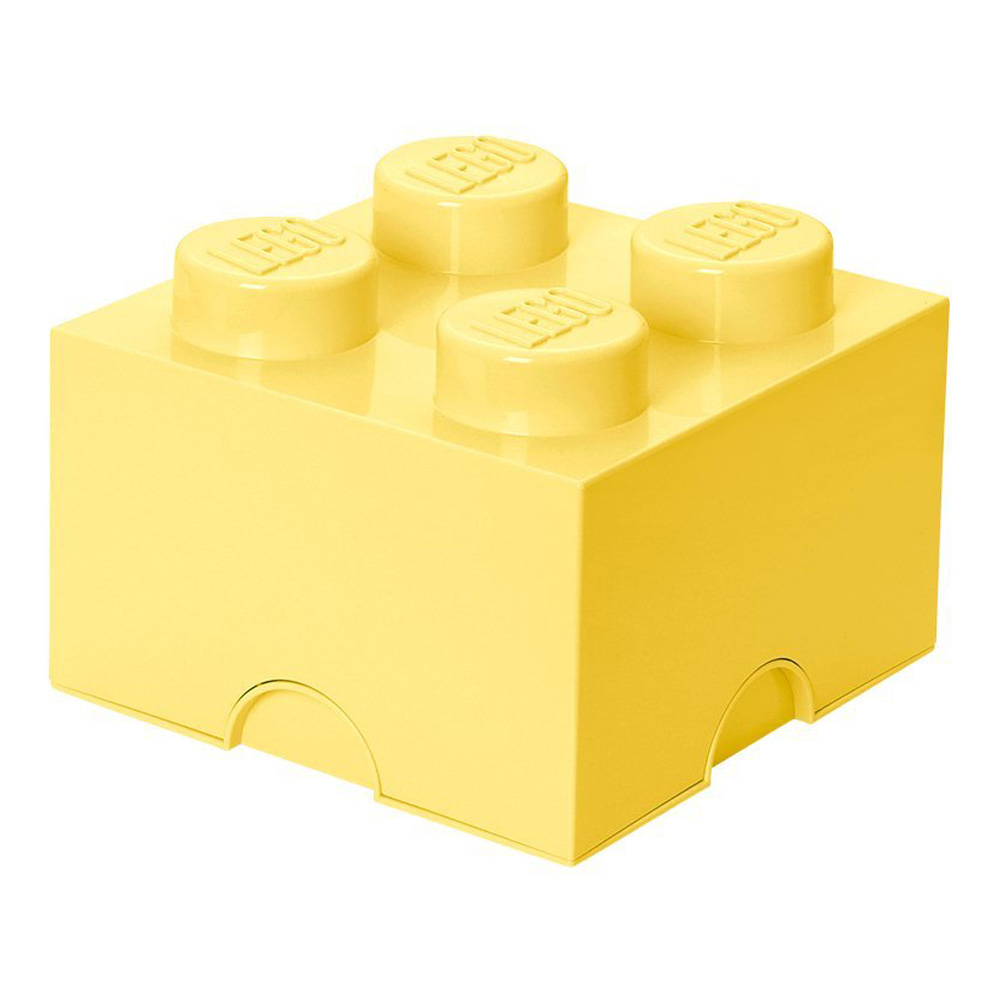 Lego Storage Brick 4 Medium Cool Yellow