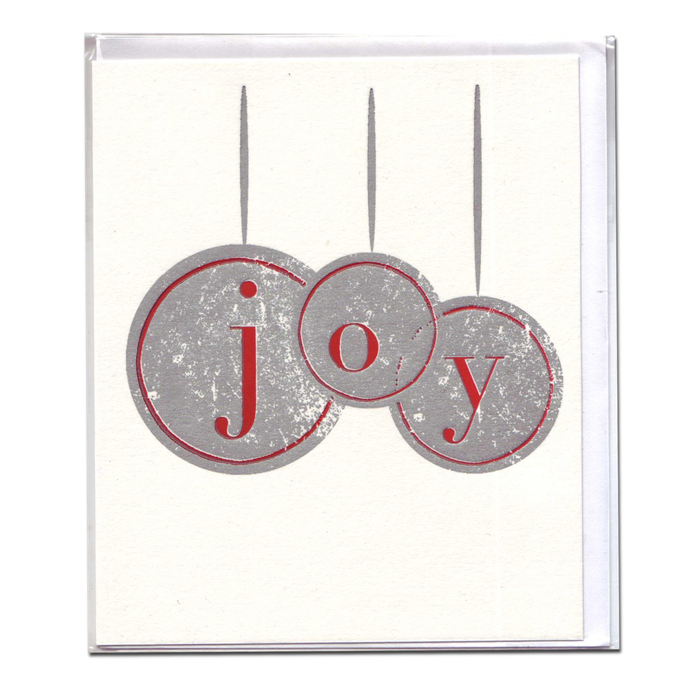 Holiday Card: Joy Ornaments