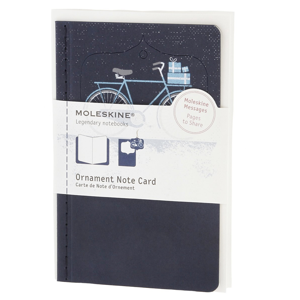 Moleskine Small Ornament Card: Blue Bicycle