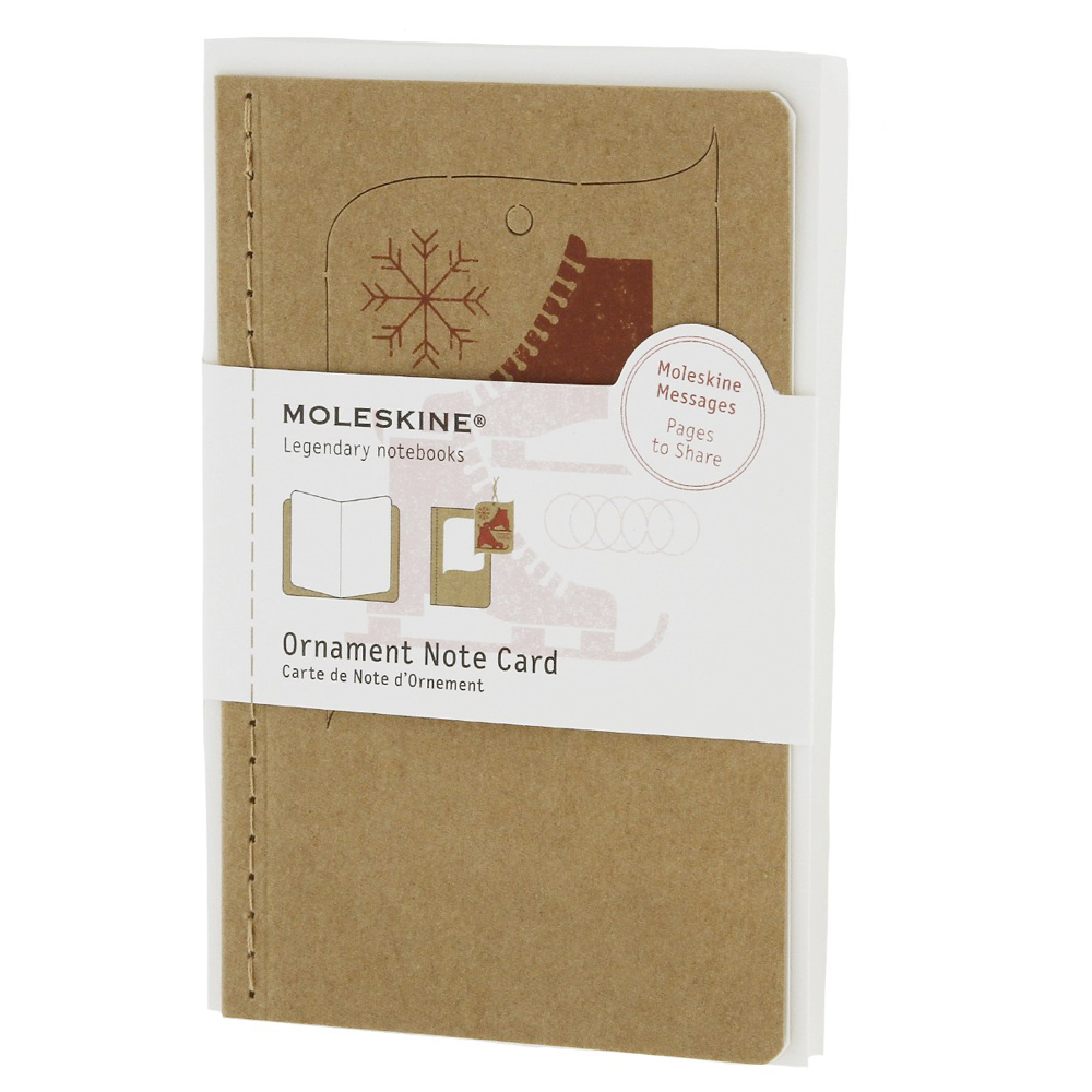 Moleskine Small Ornament Card: Ice Skates