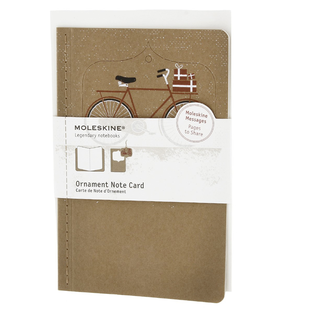 Moleskine Large Ornament Card: Snowy Bicycle