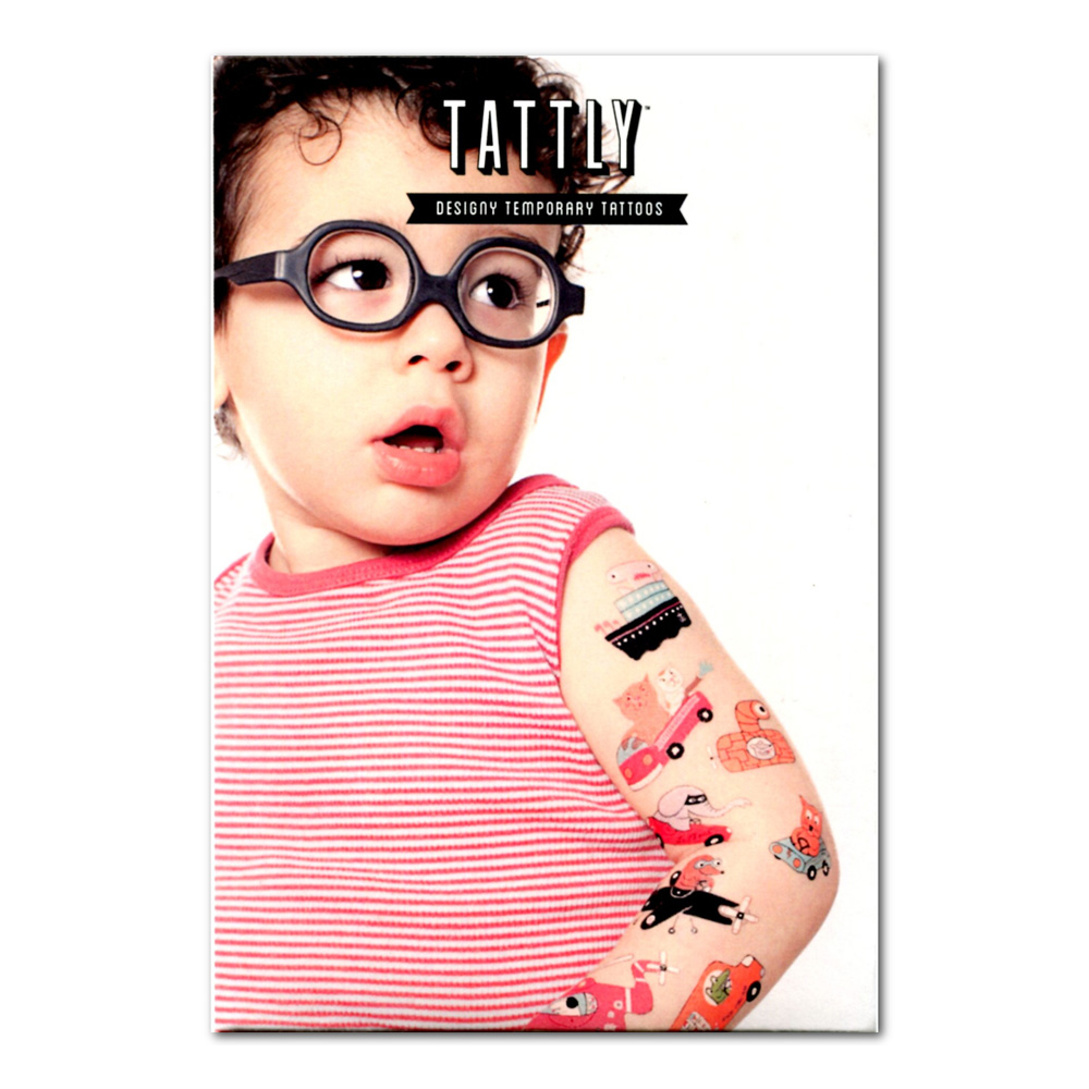Tattly Temporary Tattoos Animal Drivers 8 Set