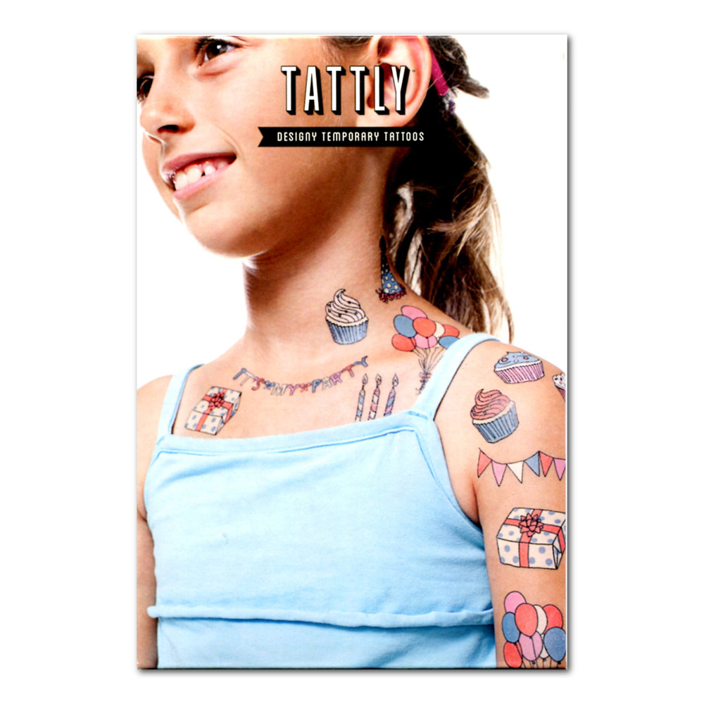 Tattly Temporary Tattoos Party Set Of 8