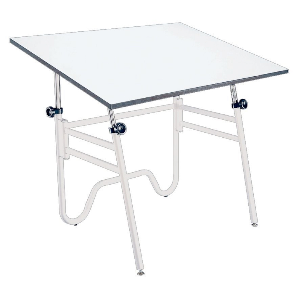 Alvin Opal Table 24X36 White Base