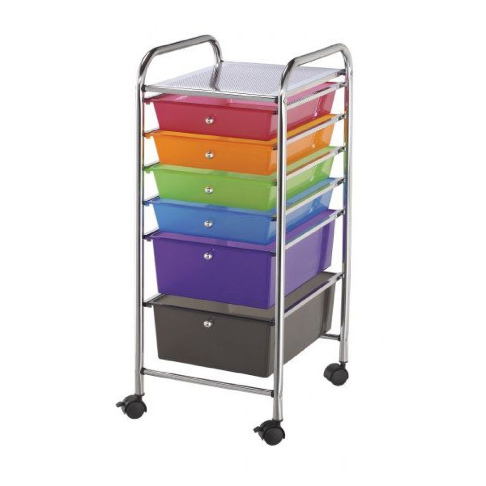 Mobile Storage Cart 6 Drawer Multi *OS1