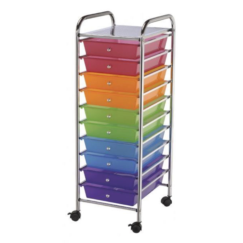 Mobile Storage Cart 10 Drawer Multi *OS1