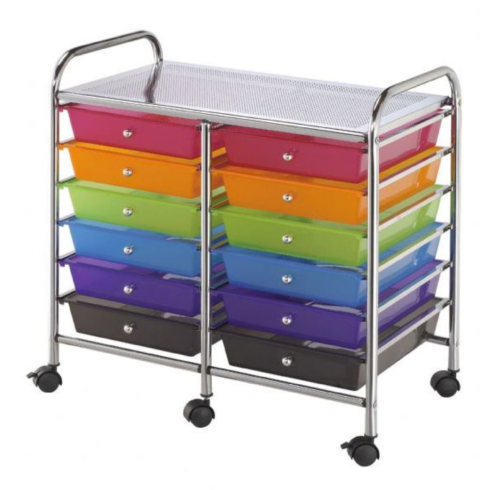 Mobile Storage Cart 12 Drawer Multi *OS1
