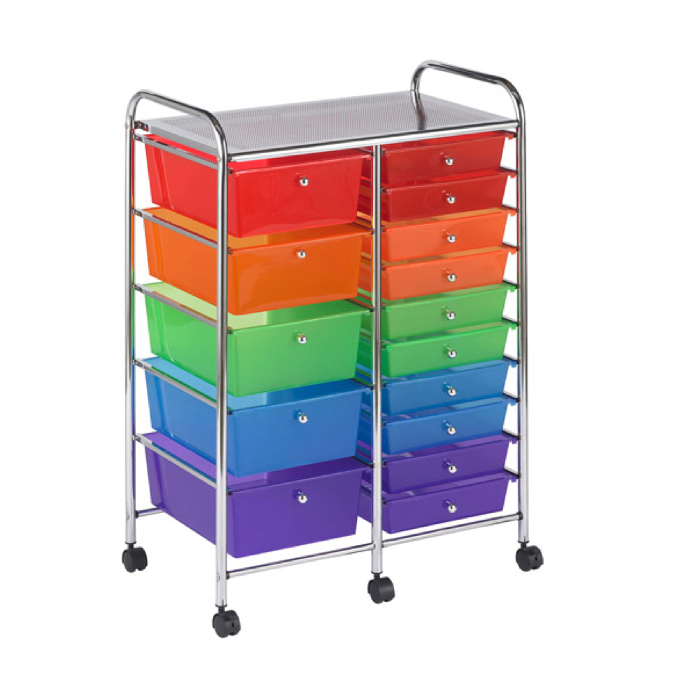 Mobile Storage Cart 15 Drawer Multi *OS1
