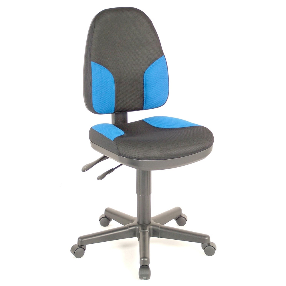 Alvin Monarch Office Chair Black W/Blue