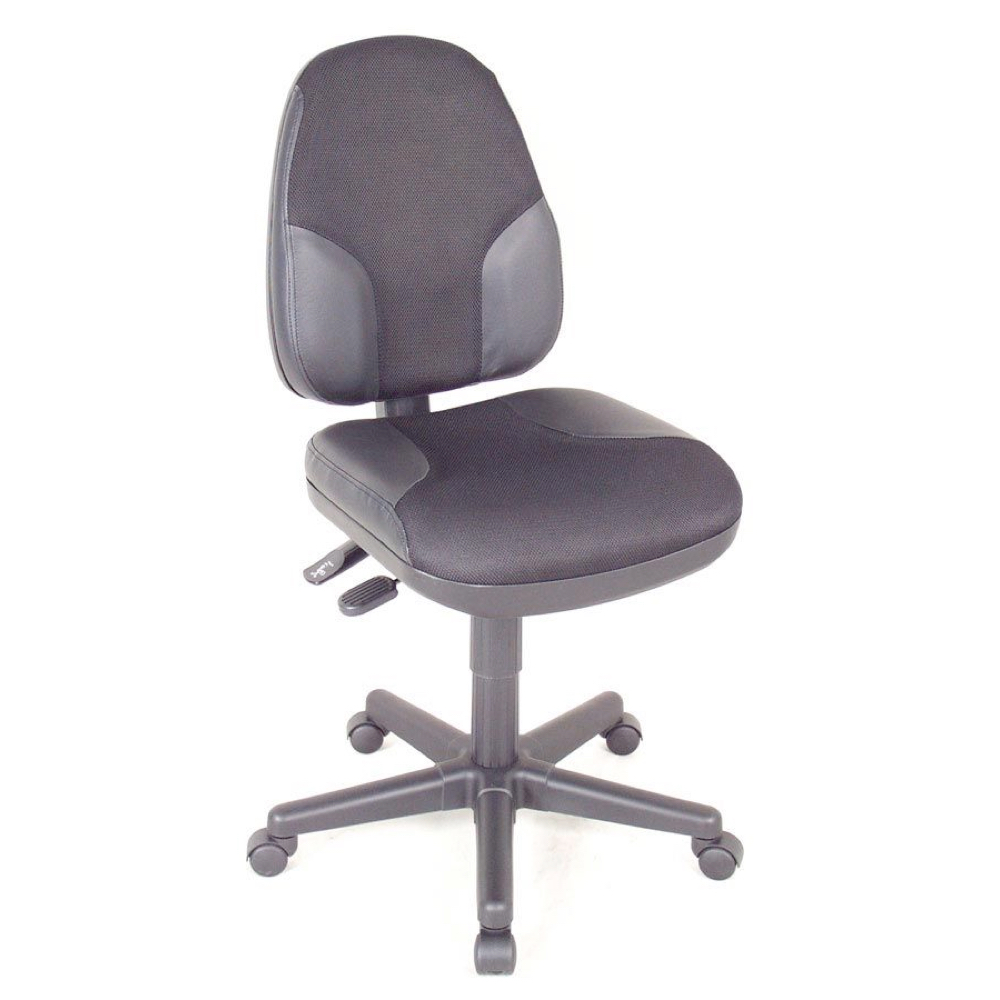 Monarch Office Height Black W/Leather Chair
