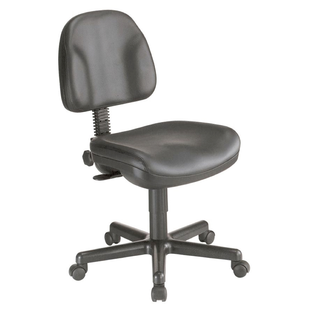 Alvin Ch444 Premo Deluxe Chair Black Leather