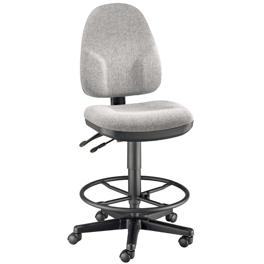 Monarch Drafting Height Med Gray Chair