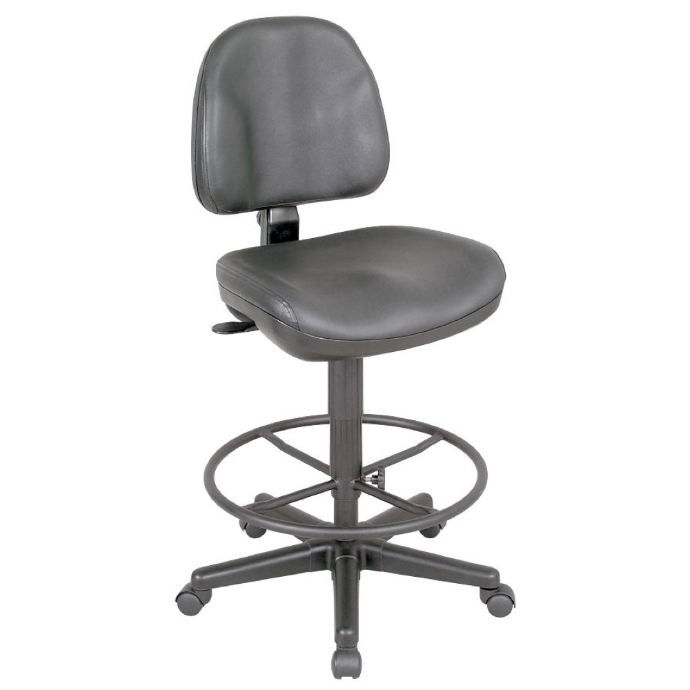 Premo Ergonomic Drafting Chair Black Leather