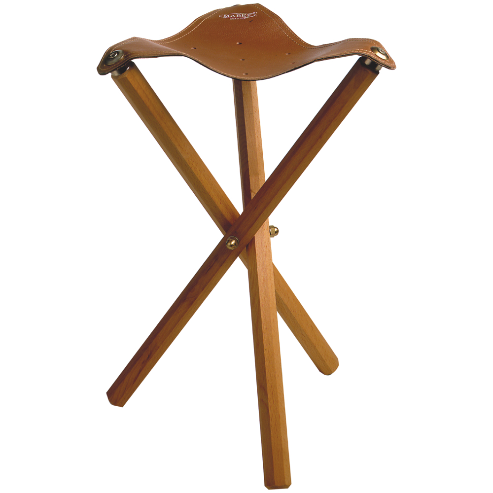 Mabef Mbm-39 Folding Stool With Leather Seat