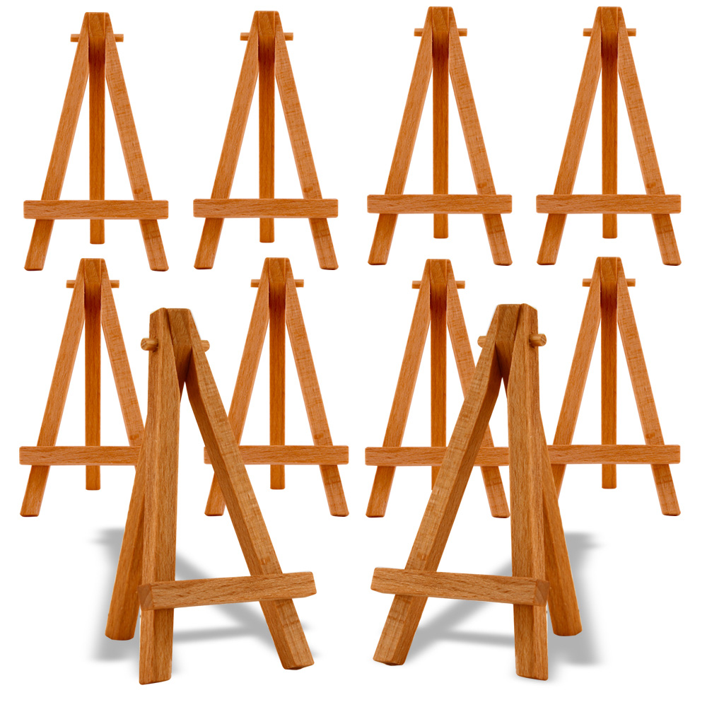 Reeves Mini Easels 5 Inch Natural Wood Pk/10