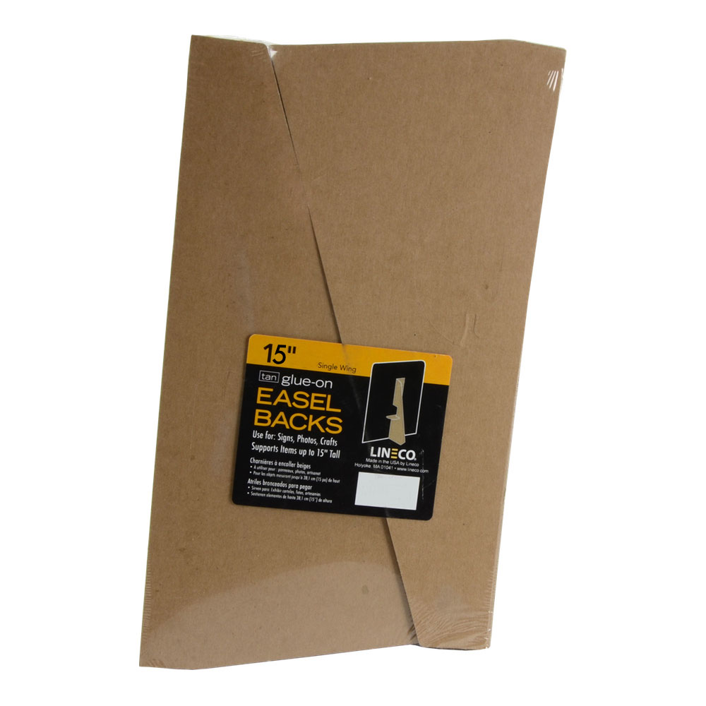 Lineco Glue-On Easel Backs 15 In Tan 100/Pkg