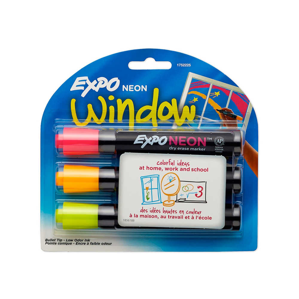 Expo Neon Dry Erase Marker Set Of 3