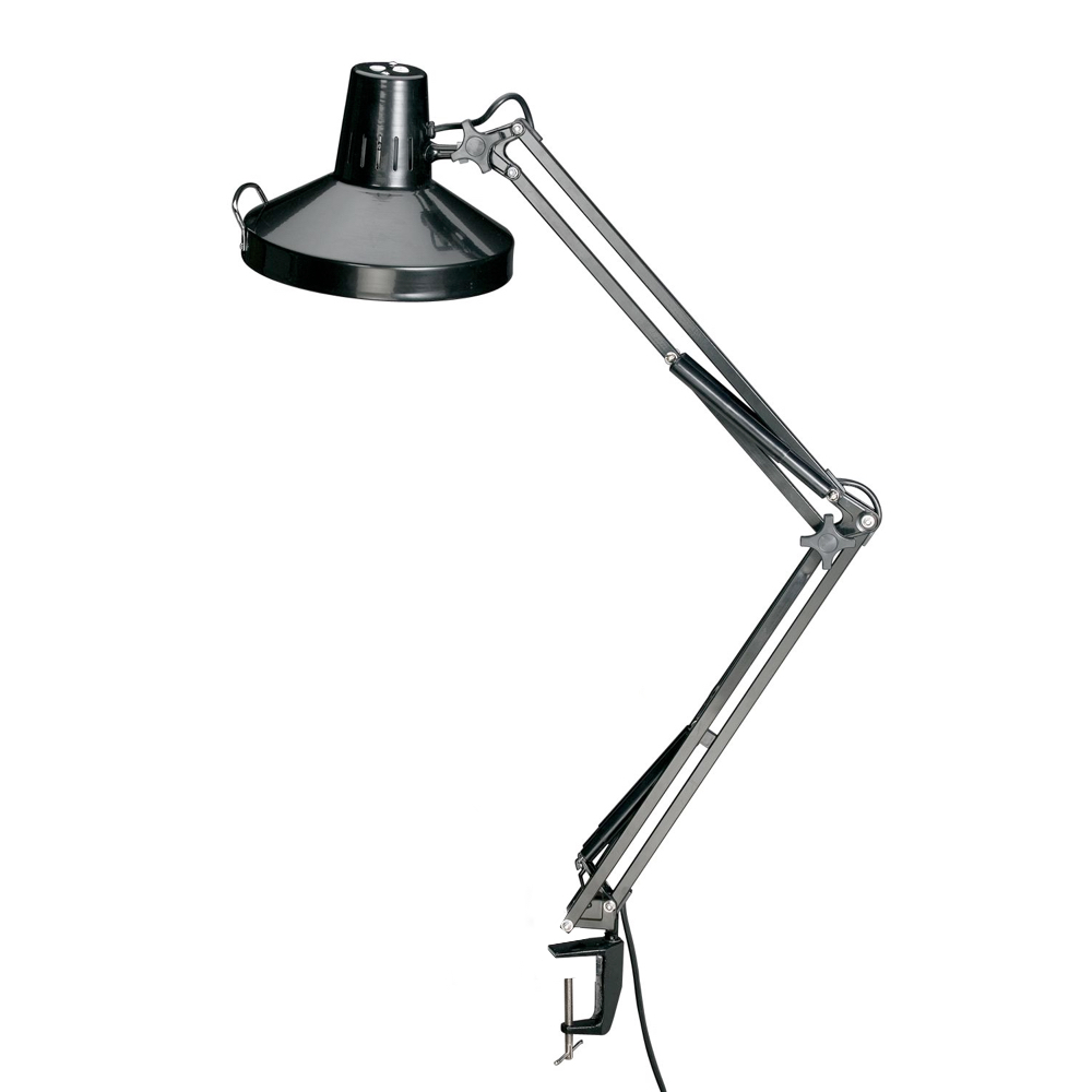 Swing-Arm Combination Lamp White
