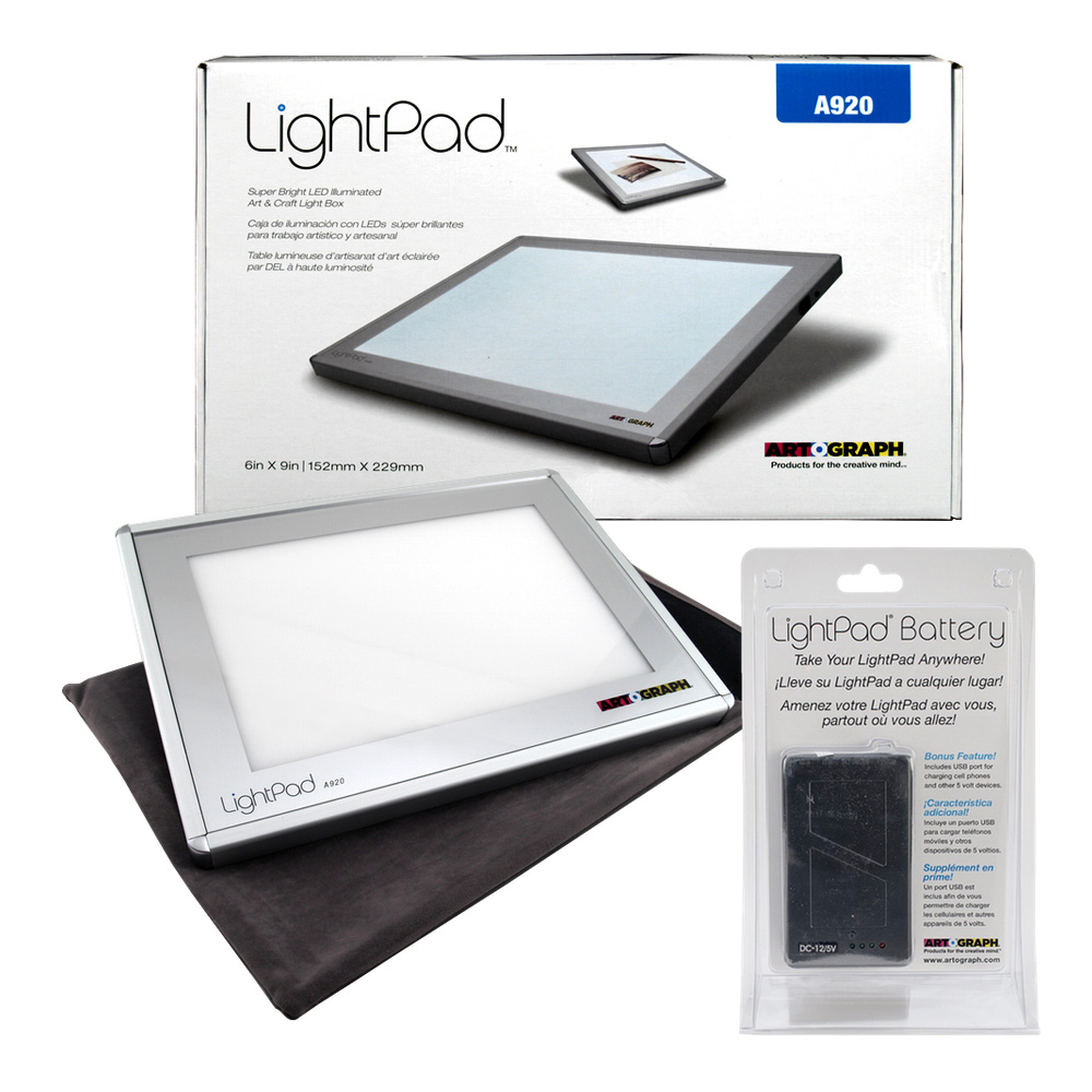 Artograph Led Lightpad 6X9 A920 W/Battery Pk