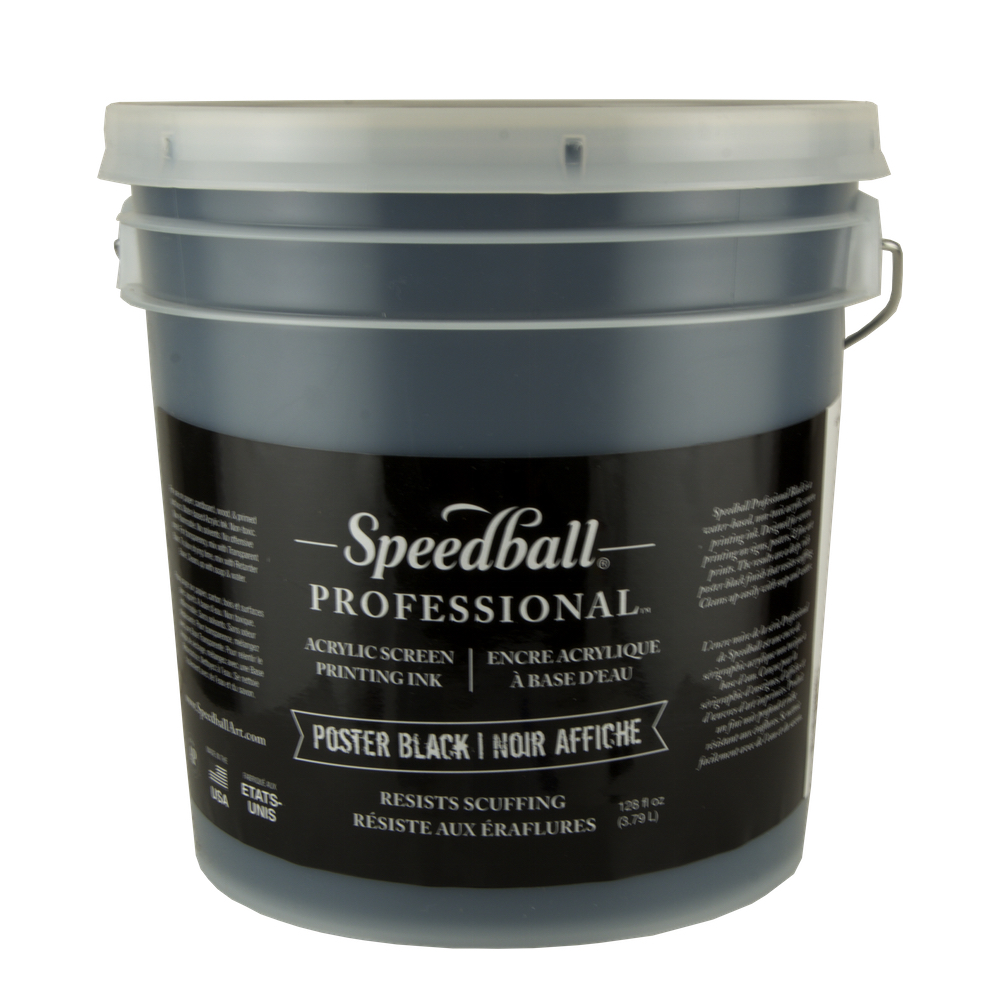 Speedball Poster Black Acrylic Ink 128 Oz