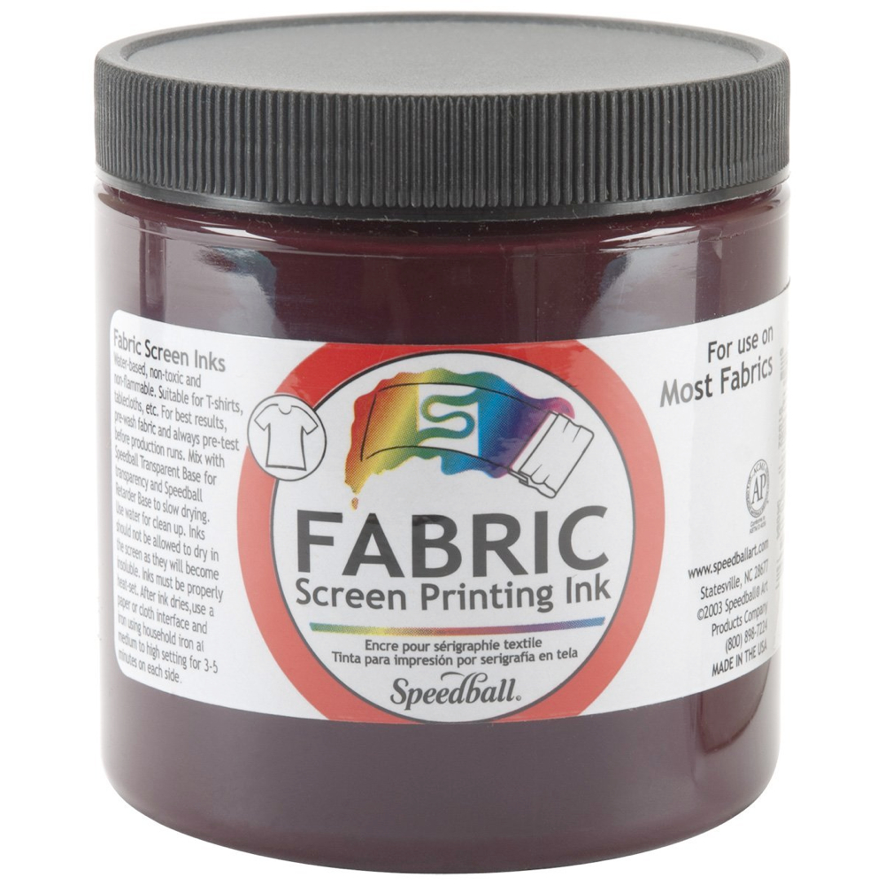 Speedball Screen Prtg Ink 8 Oz Burgundy