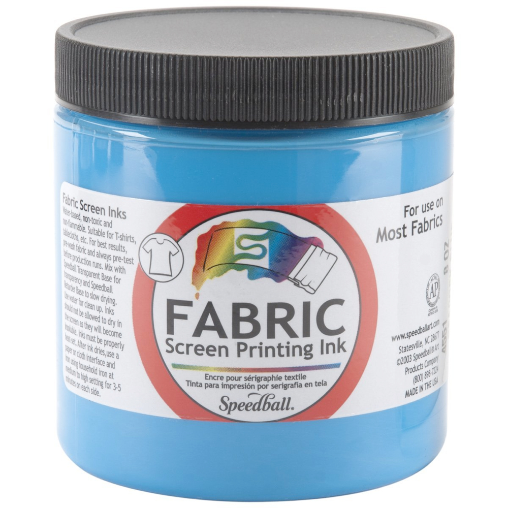 Speedball Screen Prtg Ink 8 Oz Peacock Blue