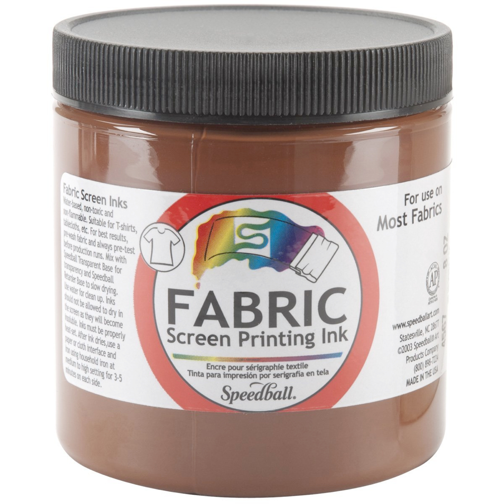 Speedball Screen Prtg Ink 8 Oz Brown