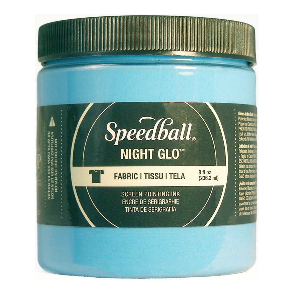 Speedball Screen Prtg Ink 8 Oz Nite Glow Blue