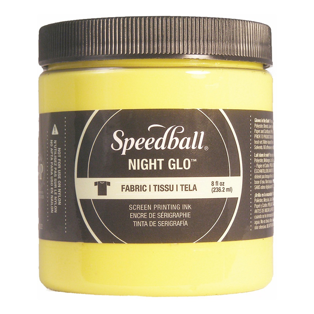 Speedball Screen Prtg Ink 8 Oz Nite Glow Yell