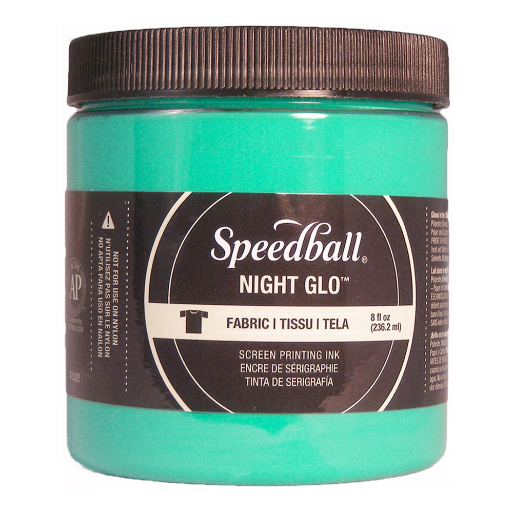 Speedball Screen Prtg Ink 8 Oz Nite Glow Gree